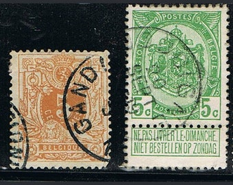 67 Old Belgian Postage Stamps - Belgium - Europe