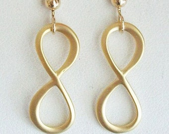 Infinity Earrings - Modern Silver Infinity Earrings, Great Gift for Her, Gifts for Mom, Wife, Sister, Revenge, Free Shipping