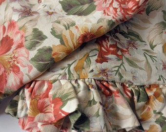 shabby chic pillow sham - Ralph Lauren, floral, cotton, made in Italy
