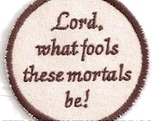 Shakespeare, Midsummer Night's Dream, Puck Quote Patch
