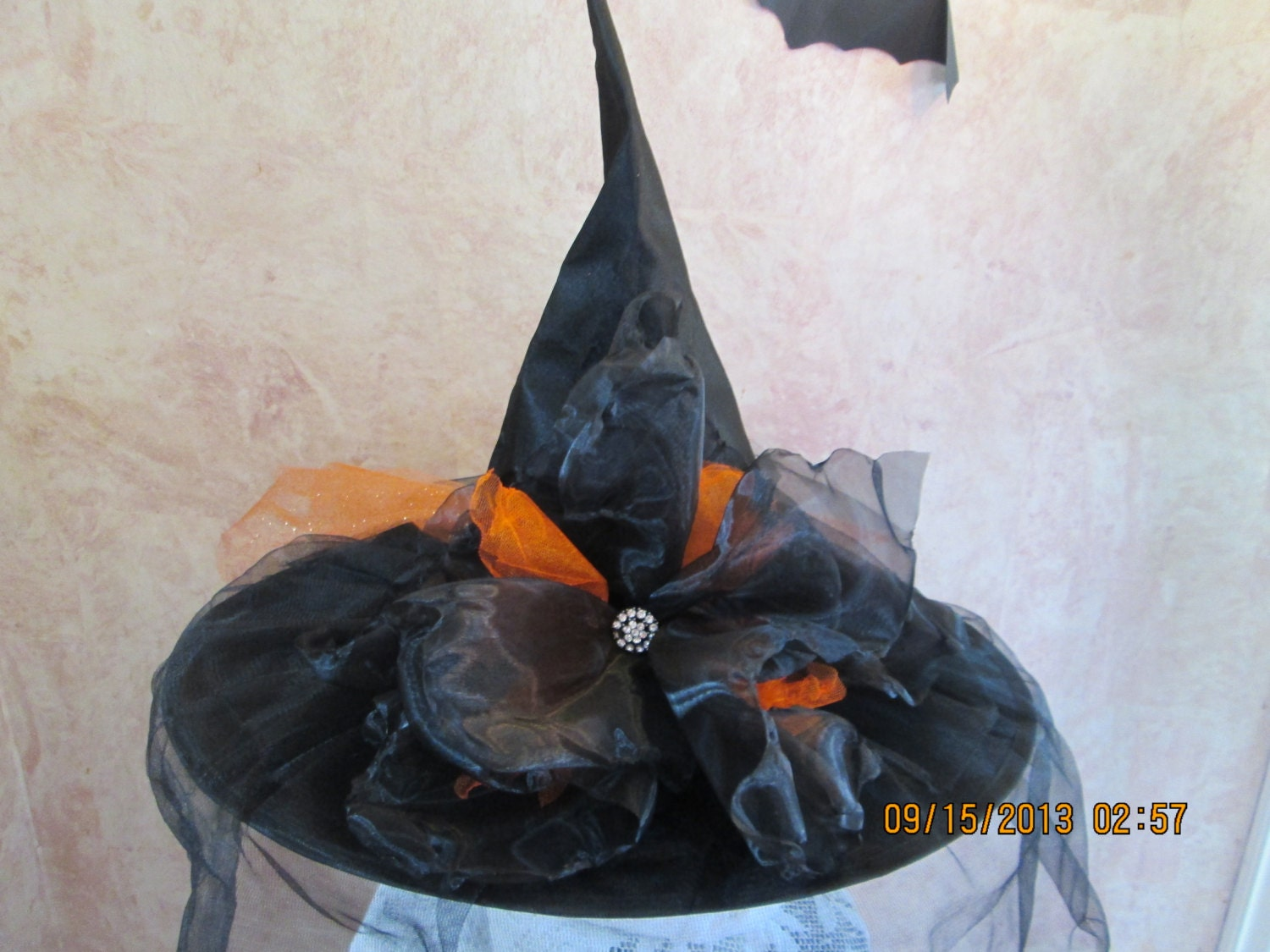 Gorgeous Witch Hat Tulle and Organza Witch Hat Halloween