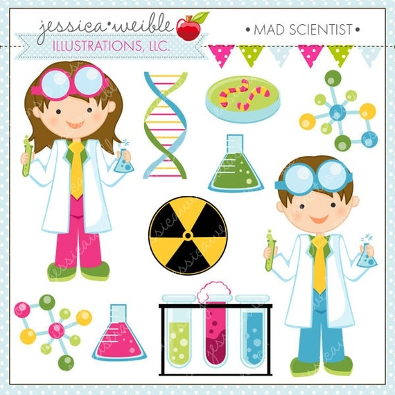 Scientist Kids Cute Clipart, Science Kids, Science Clip art, Scientist Graphics, Kids in Lab Coats, Test Tube, DNA, Molecule Graphics