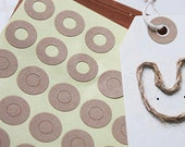 240 Kraft Ring Label Stickers for Gift Tags (0.55in)