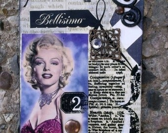 Marylin Monroe  Another Iconic ACEO By AlteredHead Marilyn Monroe ACEO Iconic Cards Actresses Hollywood Silver Screen Actress Etsy Whimsy