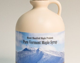 Half Gallon Pure Vermont Maple Syrup (Choice Grade)