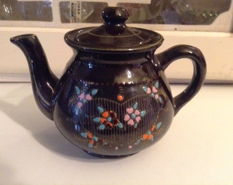 Redware Moriage Teapot Japan