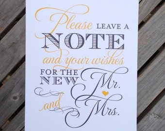 Custom Wedding Signs - Thank You, Photo Booth, Donation Cards - 8x10 or 5x7 or 4x6 - You Pick Design