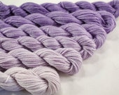 Mini Skein Sock Yarn Fingering Weight Gradient Yarn  - Lilac Gradient - 600 yards