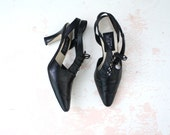 RESERVED // black cut-out oxfords // early 90s witchy shoes size 8