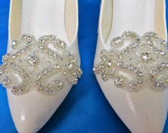 Rhinestone Shoe Clip, Bridal Shoes, Shoe Accessory, Bridal Shoe Clips, Shoe Clips