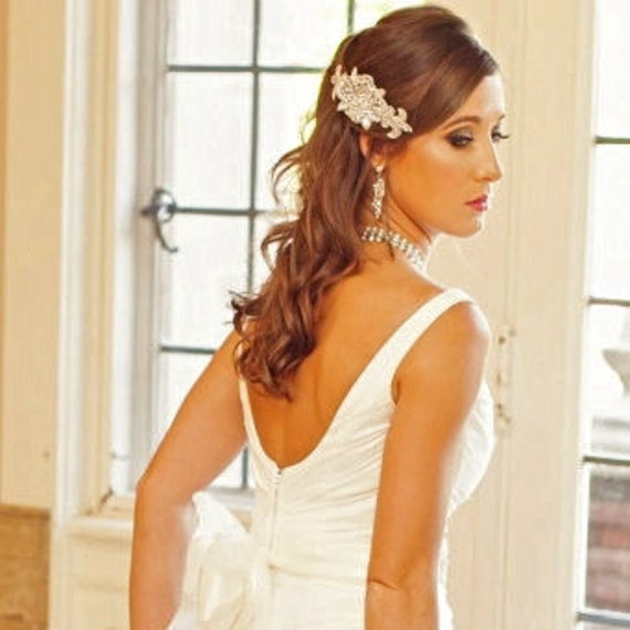 Rhinestone Bridal Comb, Crystal Bridal Hair Fascinator, Wedding  Bridesmaid Accessory, Vintage Style Head Piece