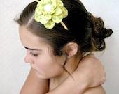 Lemon Lime Daisy Paper Mache Headband