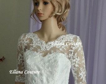 Plus Size. Julia - Vintage Inspired Wedding Dress. Retro Style Bridal Gown.