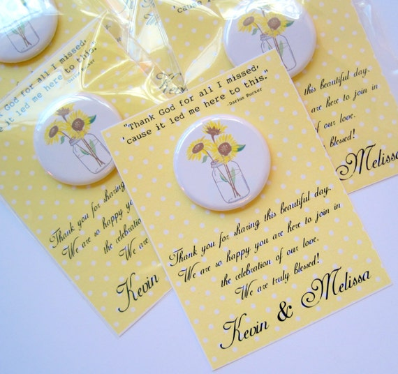 Sunflower Wedding Favor Ideas: Items Similar To Country Wedding Favors