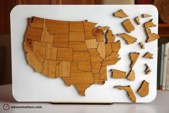 USA Map Puzzle Alder