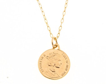 gold necklace, coin necklace, coin pendant, dainty gold necklace, layering necklace, gold coin necklace, thin gold necklace
