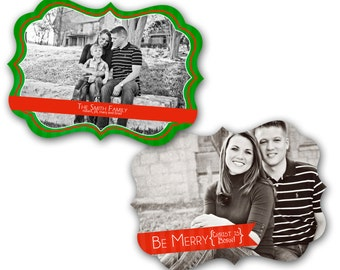 Luxe Photoshop Christmas Card Template - Be Merry - 0441