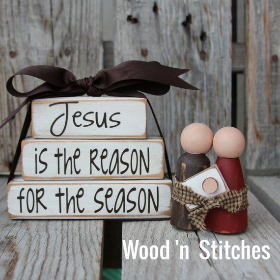 Items similar to nativity and jesus is the reason for the for Christian crafts for adults