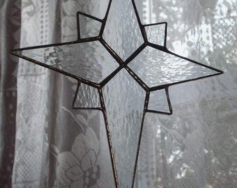 "Stained glass star - 8"" Bethlehem Star"