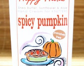 Spicy Pumpkin Hand Cream for Knitters - 2oz Travel Size HAPPY HANDS Shea Butter Hand Lotion Paraben Free