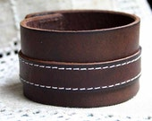 Natural Leather Bracelet, Brown Leather Women Leather Bracelet, Men Leather Cuff Bracelet ,Unisex Bracelet