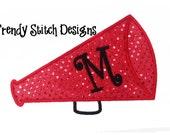Megaphone 2 Applique Design Machine Embroidery Design bull horn INSTANT DOWNLOAD