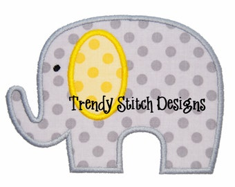 Elephant 2 Applique Design Machine Embroidery Design INSTANT DOWNLOAD
