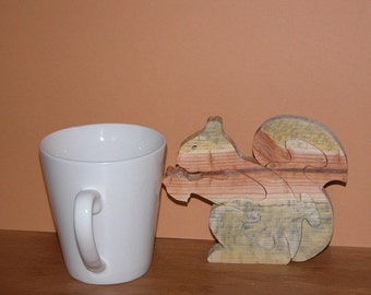 Squirrel Puzzle - Home or Office Decor -  Wooden Animal Puzzle