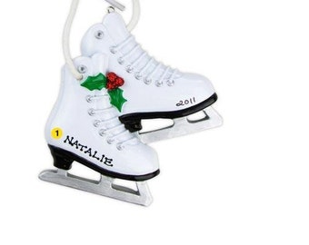 Personalized Christmas Ornament Figure Skates,Ice Sports, Coach,  Gift- Free Personalization