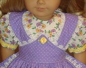 American Girl Doll Clothes - Mid 1800's Apron Gown For Marie-Grace Or Cecile