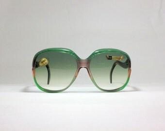 Vintage sunglasses. Lozza 80s oversized sunnies. deadstock green eyewear