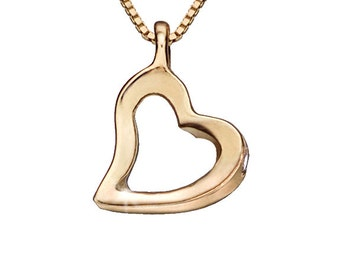 Heart Pendant Necklace, Heart Shaped Necklace, Anniversary Day Necklace, Friendship Necklace, Heart Necklace, For Her, Rose Gold Pendant