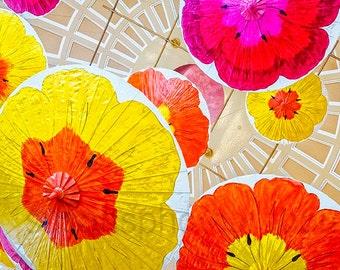 Colorful Umbrellas, photo, spring colors, flowers large wall art, home decor, digital photo, Las Vegas, office art, spring art, spring photo