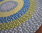 Made To Order Nursery / Playroom / Child's Room Braided Round Area Rug in your color choices