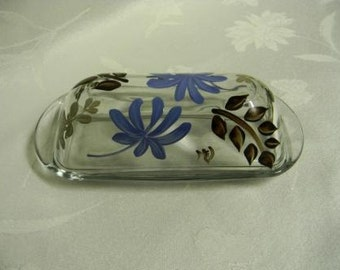 Butter dish-painted butter dish-covered butter dish