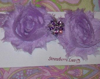 lilac Shabby Rosette Headband