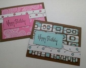 Birthday Cards - Set of 8