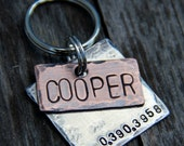Custom Pet ID Tag / Dog Tag, Cooper, in Mixed Metal - Copper and Aluminum