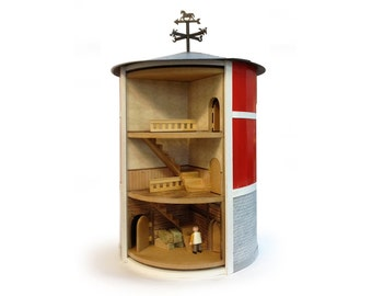 Rotating dolls' house (barn)