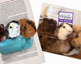 Custom pet portrait- any animal - Made to Order  --  painted picture of your guinea pig, cat, dog, canary, fish or ferret