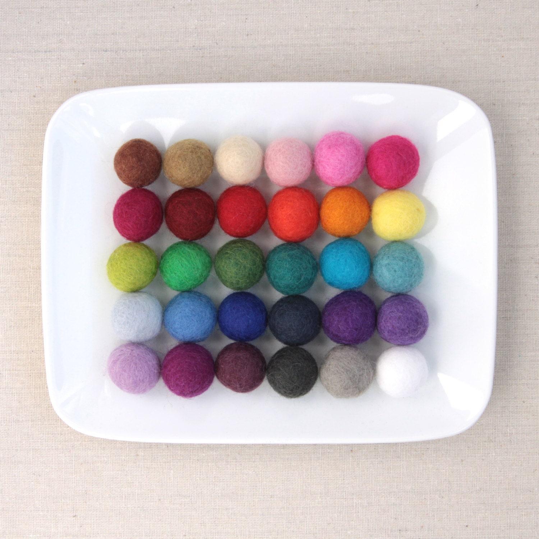 felt pom poms 2cm felt balls by benzie felted balls. Black Bedroom Furniture Sets. Home Design Ideas