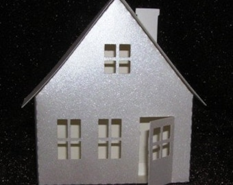 DIY 3D cottage from the village ledge series