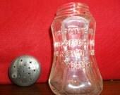 Java coffee mills shaker, Chicago, glass embossed shaker, Petru complimentary shaker