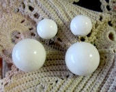 1940s Richelieu Signed Lucite Double Drop Earrings