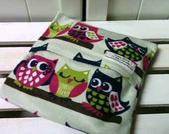 Kids Boo Boo packs/ Hot and Cold packs/ microwave or freezer packs in Purple Owls