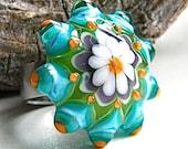 Flower Power Glass Ring Top(II) by Caroline Dousi (SRA)