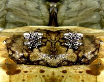 Spider Web Cufflinks Sterling Silver