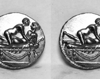 ROMAN SPINTRIAE Cufflinks in solid sterling silver Free Domestic Shipping