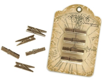 Graphic 45- Staples Metal Clothespins 4500421