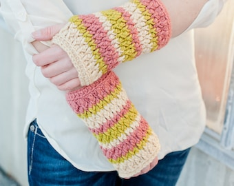 Firecracker Fingerless Gloves Crochet Pattern